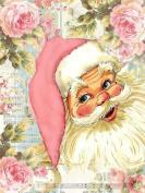 Santa Claus Diamond Painting 5D DIY Merry Christmas Full Drill Craft Pink Resin Embroidery Paste Cross Stitch Tools Kits Diamond Mosaic Sticker Canvas Wall Decoration , square diamond , 40*53 cm
