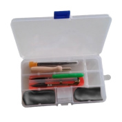 BeautyBouse Needle Felting Starter Tool Set Wool Felt Needle Craft Kit with Handy Case Box