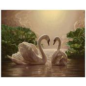 5D Diamond Painting Two Swan Pattern DIY Painting Cross Stitch Needlework Diamond Painting For Children