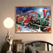 5D Christmas Train Diamond Painting Embroidery DIY Gift Home Decoration 30*40cm