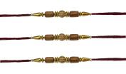 3 x Beautiful Wooden Beaded Rakhi Thread/Rakhi Bracelet/Bhaiya Series