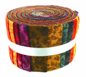 Fabric Freedom Melody 1 Jelly Baby Roll, 100% Cotton, Multicoloured, 9 x 9 x 7 cm