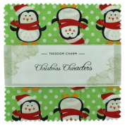 Fabric Freedom Christmas Characters Green Freedom Charm, 100% Cotton, Multicoloured, 13 x 13 x 1.5 cm