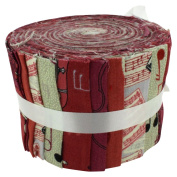 Fabric Freedom Sound of Muisc Jelly Baby Roll, 100% Cotton, Multicoloured, 9 x 9 x 7 cm