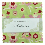 Fabric Freedom Flower Fairies Green Freedom Charm, 100% Cotton, Multicoloured, 13 x 13 x 1.5 cm