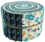 Fabric Freedom Autumn Leaves 3 Jelly Baby Roll, 100% Cotton, Multicoloured, 9 x 9 x 7 cm