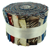 Fabric Freedom Marbled Magic Jelly Baby Roll, 100% Cotton, Multicoloured, 9 x 9 x 7 cm