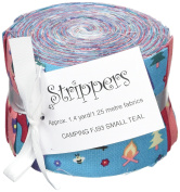 Fabric Freedom Camping Teal Jelly Baby Roll, 100% Cotton, Multicoloured, 9 x 9 x 7 cm