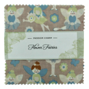 Fabric Freedom Flower Fairies Pastel Freedom Charm, 100% Cotton, Multicoloured, 13 x 13 x 1.5 cm