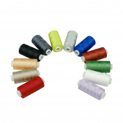 Simthreads 12 Colours Cotton Sewing Thread, 550 yards/spool, for Home Sewing Thread