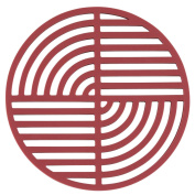Circles Silicone Trivet, Brick Red