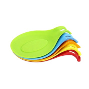 Dreammy New Silicone Spoon Insulation Mat Silicone Heat Resistant Placemat Tray Spoon Pad Drink Glass Hot Kitchen Tool