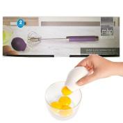 DPNY Magic Whisk & Egg Yolk Yellow Separator Gadget Cook Kitchen Suction Divider Set