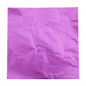 Kelaina Approx.100 Pcs Square Foil Paper Wrappers for Favour Sweets Chocolate Package