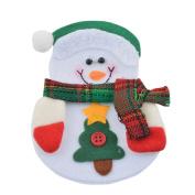 Souarts Kitchen Cutlery Suit Holders Pockets Forks Bag Snowman Christmas Decoration