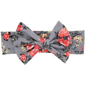 baleba Baby Elastic Flowers Big Bowknot Headband Girl Headdress