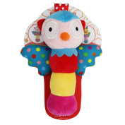 Qiyun Rattles Cute Animal Shaped Baby Cartoon Hand Ring Bell Rattles Kid Plush Soft BB Stick Toys for Children Giftstyle:owl