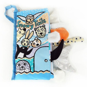 Soft Cloth Books ♣Buyby toys, Durable Animal Tails Books Baby Learning Toys