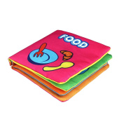 Baokee Baby books, Soft Cloth Baby Intelligence Development Learn Picture Cognize Book
