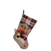 8m New Year Christmas Stockings Socks Plaid Santa Claus Cwithy Gift Bag Decoratiat-Elk