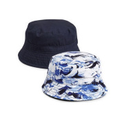 Two Pack Fisherman's Hats 3 - 6 Months Navy Blue/ Wave