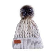 BZLine® Cute Winter Warm Kids Baby Knitted Pom Pom Plain Braided Beanie Hats
