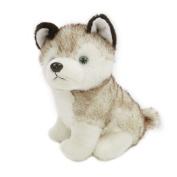 Samber Husky Dog Plush Toy Lifelike Puppy Dog Doll Stuffed Animal Toys Christmas Birthday Gift for Baby Kids Children Educational Comfort Teasing Toy