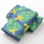 Affe 2 Pcs/Lot Cute Strawberry 3 Layers Baby Face Towels Cotton Gauze Washcloths Bath Shower Wipe Towel,Green