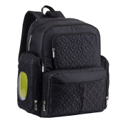MagiDeal New Multifunctional Baby Nappy Backpack Mommy Changing Bag Mummy Nappy Set - Black, as described