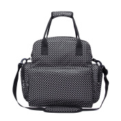 Fashion Multi-function Large Capacity Mummy Maternity Backpack Baby Nappy Nappy Shoulder Hand Bag with Changing Pad for Outdoor Travelling Shopping Picnic Black
