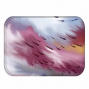 KKY-ENTER Modern Minimalist 3D Stereo Coloured Raindrops Pattern Printing Carpet Kitchen Absorbent Non-slip Mat Bathroom Non-slip Mat, 40 * 60 Cm