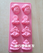 8 Holes DIY Santa Claus Xmas Tree Bells Shape Silicone Handmade Soap Cake Cookie Moulds Kitchen Tools by Clest F & H