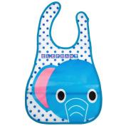 Baby Feeding Bibs Waterproof EVA Bandana Drool Apron Bib Sleeveless for Kids Infants Toddlers Elephant