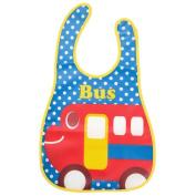 Baby Feeding Bibs Waterproof EVA Bandana Drool Apron Bib Sleeveless for Kids Infants Toddlers Bus
