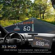 7.6cm Cheap HUD Head Up Display car Hud Display Car Styling Speeding Warning System Hud Windshield Projector OBD2 Interface