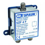 Spaun VZF4F 2 way satellite splitter dc thru