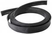 CONECTO CC50323 Universal Polyester Cable Hose – Self Zusammenziehend 1.80 m Black
