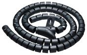 CONECTO CC50321 Polyethylene Universal Spiral Cable 2.5 m Black