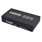 MagiDeal 1X2 4K HDMI Splitter w/HDMI Audio Extractor Support 3D 1080P for DVD HDTV
