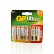 8+4 x GP Ultra AA Batteries