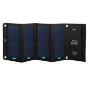 Aukey PB P5 Solar Charger with 2 USB Ports 5 V 2.4 A 28 W Black