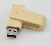 Kingwin 64GB Environmental Rotation Wood High Speed USB 2.0 Flash Drives Memory Stick