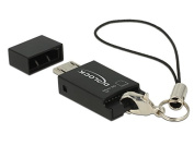 Delock Micro 91738 Black Memory Card Reader – Card reader (MicroSD