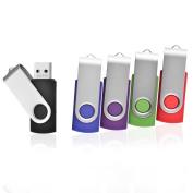 5pcs 8GB Swivel Design USB 2.0 Flash Drive Memory Stick (5 Mixed Colours