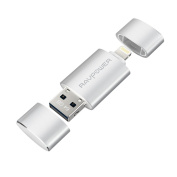 iPhone iPad Flash Drive 64GB USB 3.0 Memory Stick with Extended Lightning Connector for iPod iOS Windows PC Mac, RAVPower Lipstick External Storage Expansion