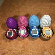 Oriental eLife Multi-colour Cartoon Dinosaur Egg Mini Hand-hold, Tamagotchi Keychain Nostalgic Tiny Digital Virtual Pet Electronic Game, Crackle Tumbler Gifts Toy For kids For Christmas