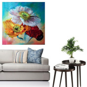 """CHshe 5D DIY Diamond Painting, """"Art Is Our Soul, When Flowers Walk into Oil Painting"""" Rhinestone Pasted Home Decor Embroidery Cross Stitch in Fashion"""