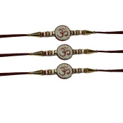 Rakhee for Brother, Rakhi Indian, Set of Three Rakhi,Raksha Bandha Gift for your brother,Colour Vary and Multi Design