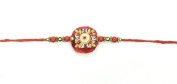Simple Round Stone Design and Beading – Rakhi Thread/Rakhi Bracelet/Bhaiya Series