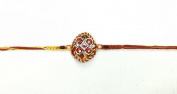 Traditional Beading and Stone Mauli Rakhi– Rakhi Thread/Rakhi Bracelet/Bhaiya Series